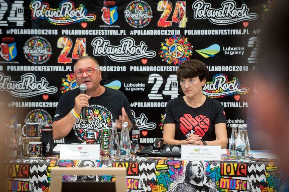 Konferencja podsumowująca przygotowania do 24. Pol'and'Rock Festival, fot. Łukasz Widziszowski