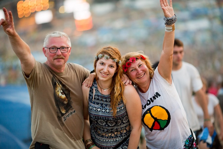 Publiczność na 24. Pol'and'Rock Festival - fot. Basia Lutzner