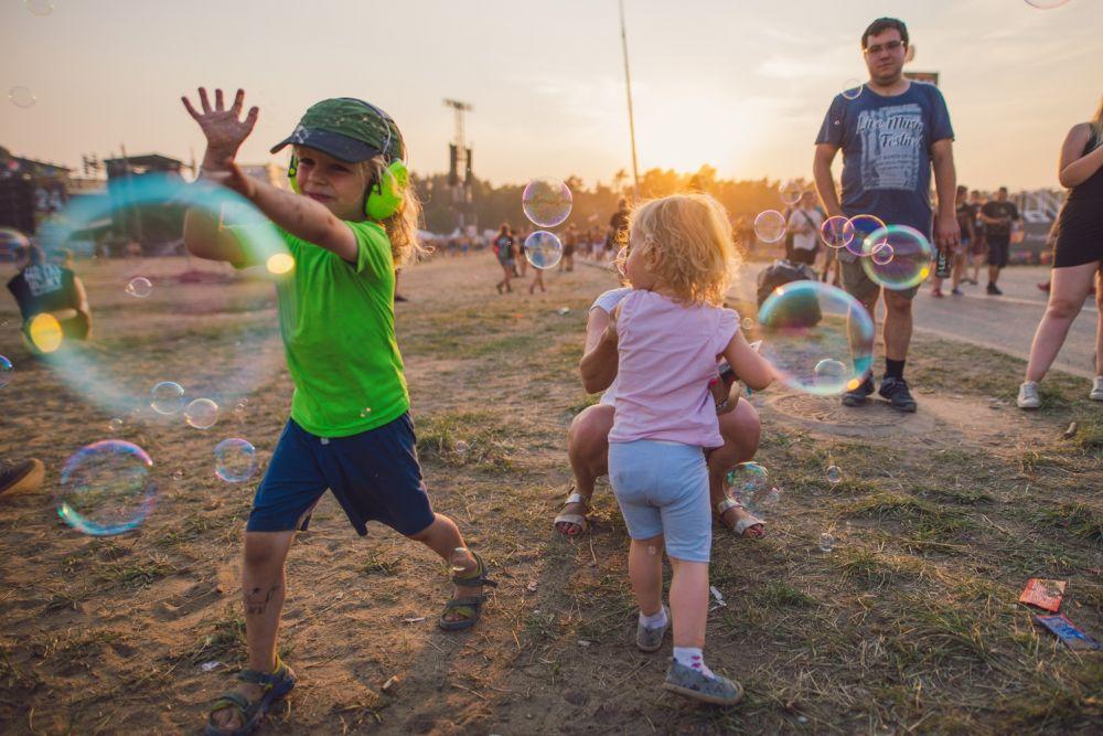 Mydlane Bańki to stały element festiwalu fot.Anna Migda