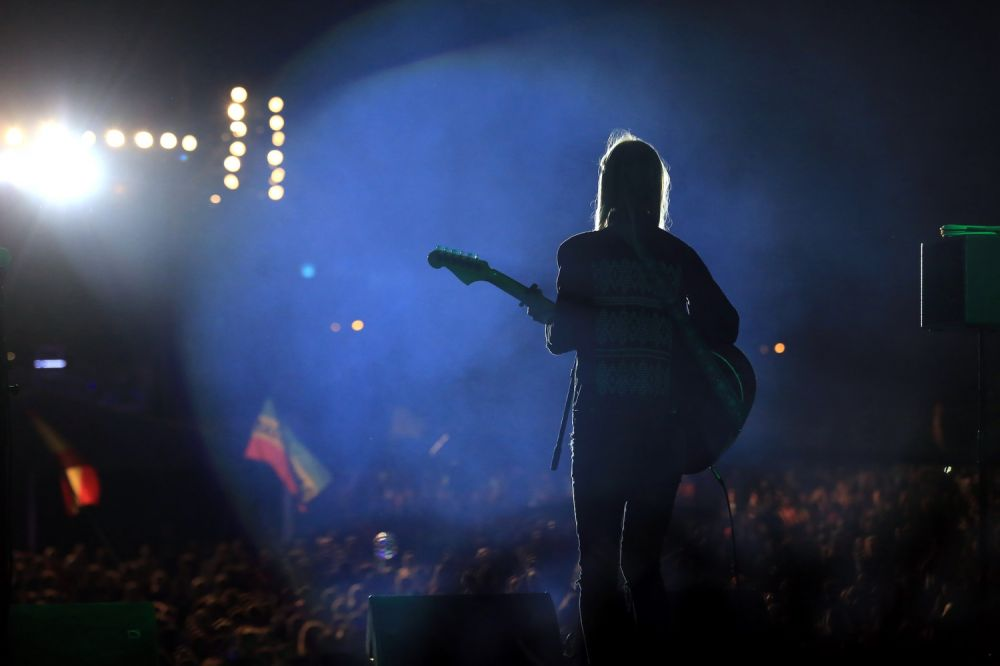 Agata Karczewska filled the Main Stage of Pol'and'Rock.