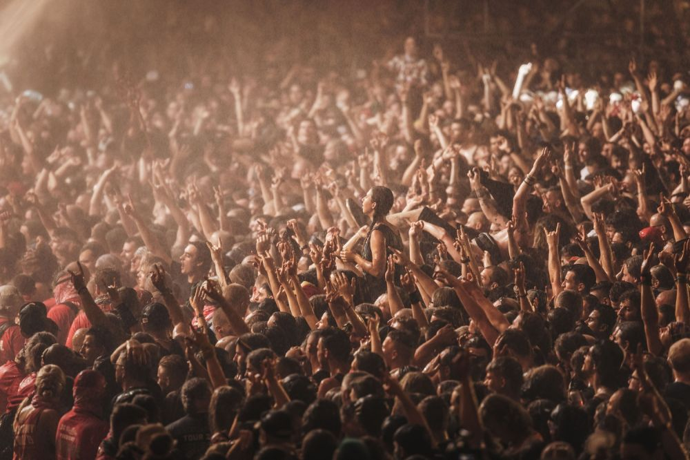 Pol'and'Rockers crowdsurfing at the Judas Priest concert. Photo credit: Anna Migdał