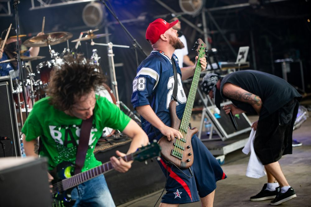 Hope rocking out on Pol'and'Rock's Main Stage. Photo credit: Damian Mekal