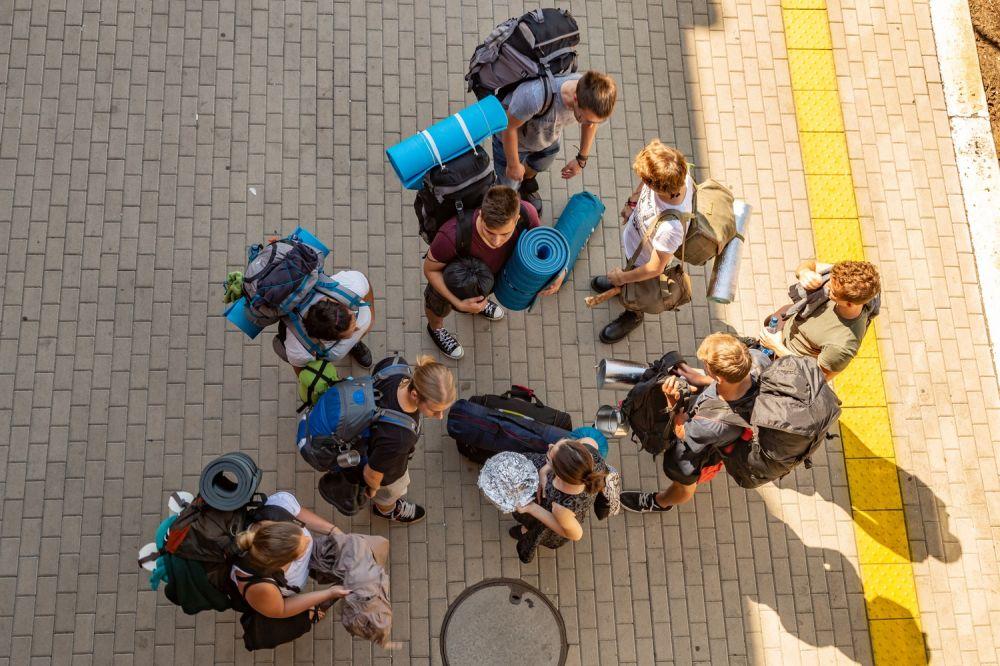 Pol'and'Rockers at the Kostrzyn train station. Photo credit: Michał Kwaśniewski