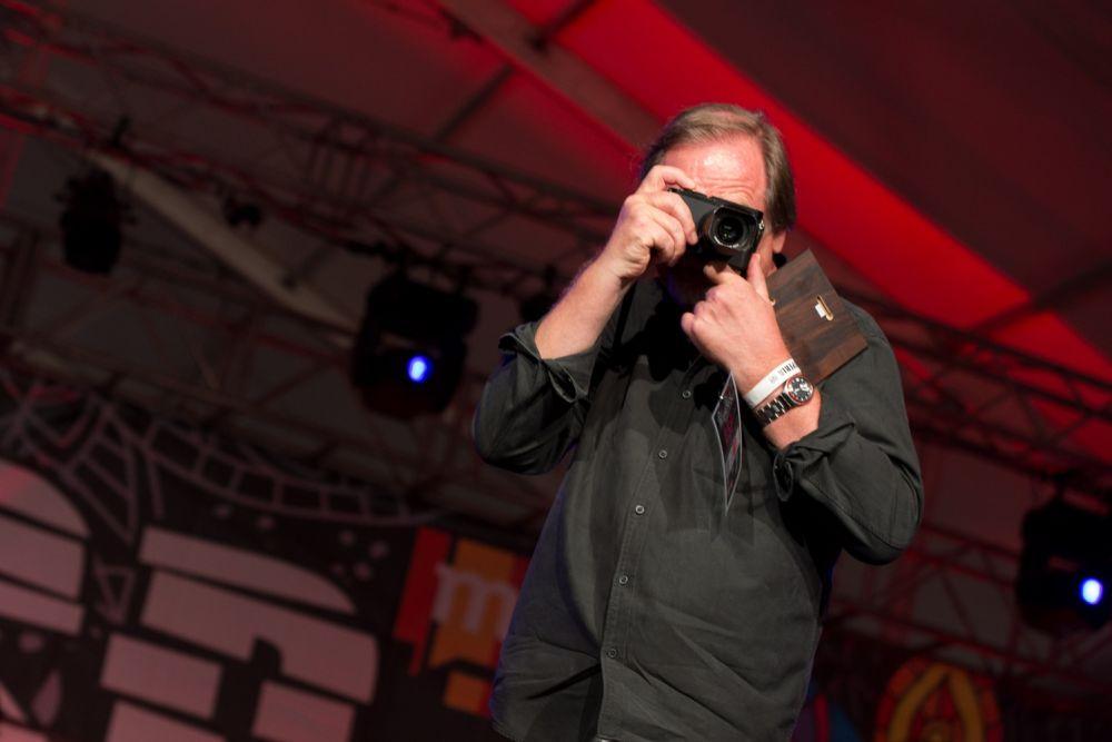Chris Niedenthal uwiecznił Festiwalowiczów Fot. Basia Lutzner