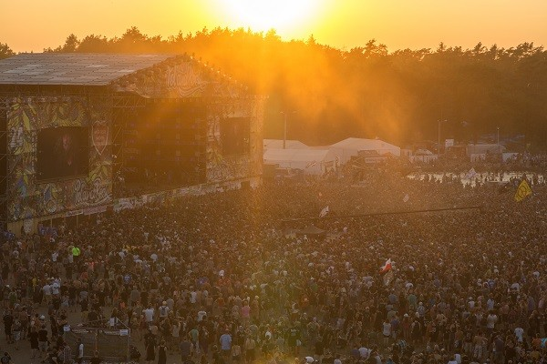 Sunset over the Main Stage in 2018. Photo ny Lucyna Lewandowska
