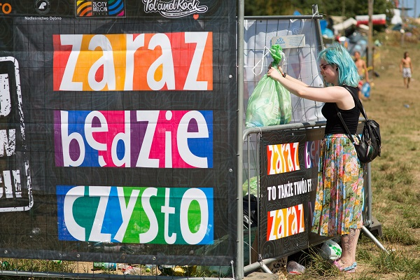 Strefa zrzutu śmieci na 24. Pol'and'Rock Festival fot. Lucyna Lewandowska