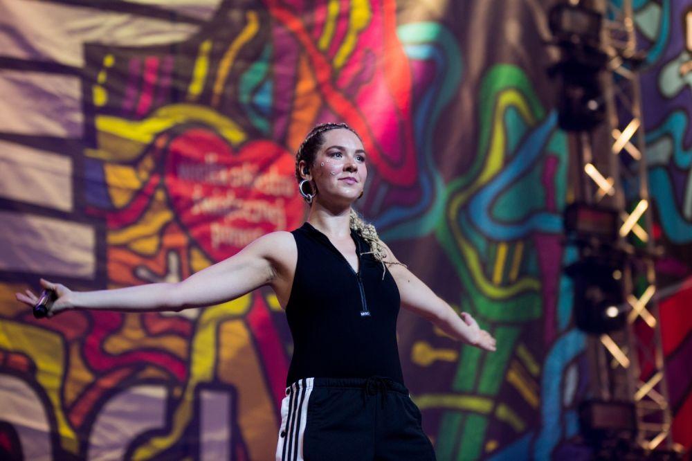 Karolina Czarnecka na Nocnej Scenie ASP fot. Basia Lutzner