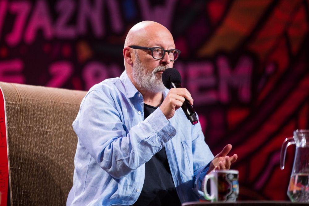 Spotkanie z Wojciechem Smarzowskim w Dużym Namiocie ASP fot. Basia Lutzner