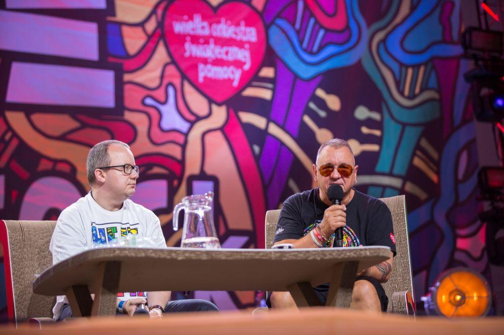 """Adam Bodnar i Jurek Owsiak podczas debaty """"Hejt mi nie gra"""" fot. Lucyna Lewandowska"""