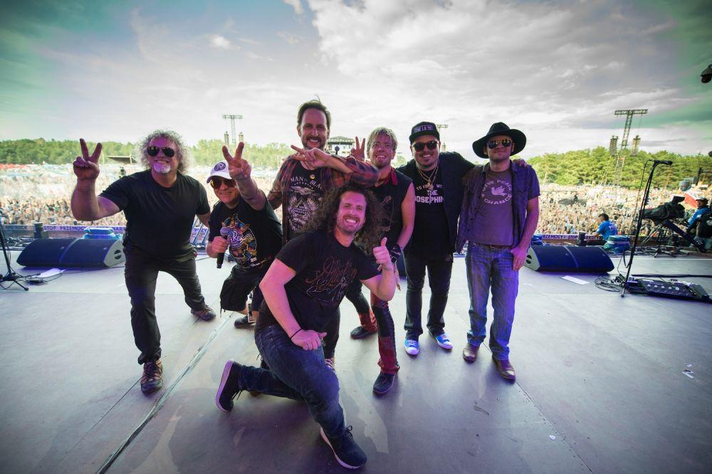 Die Band Black Stone Cherry und Jurek Owsiak fot. Stanislaw Wadas