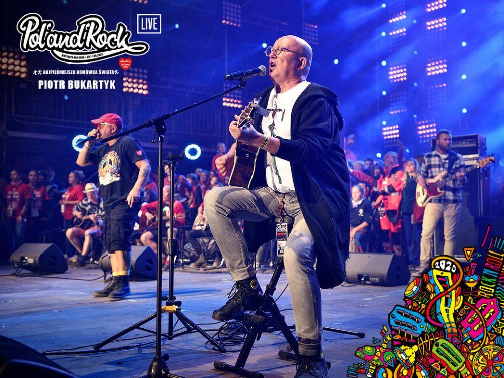 Piotr Bukartyk na zakończeniu Pol'and'Rock 2019. fot. Paweł Krupka