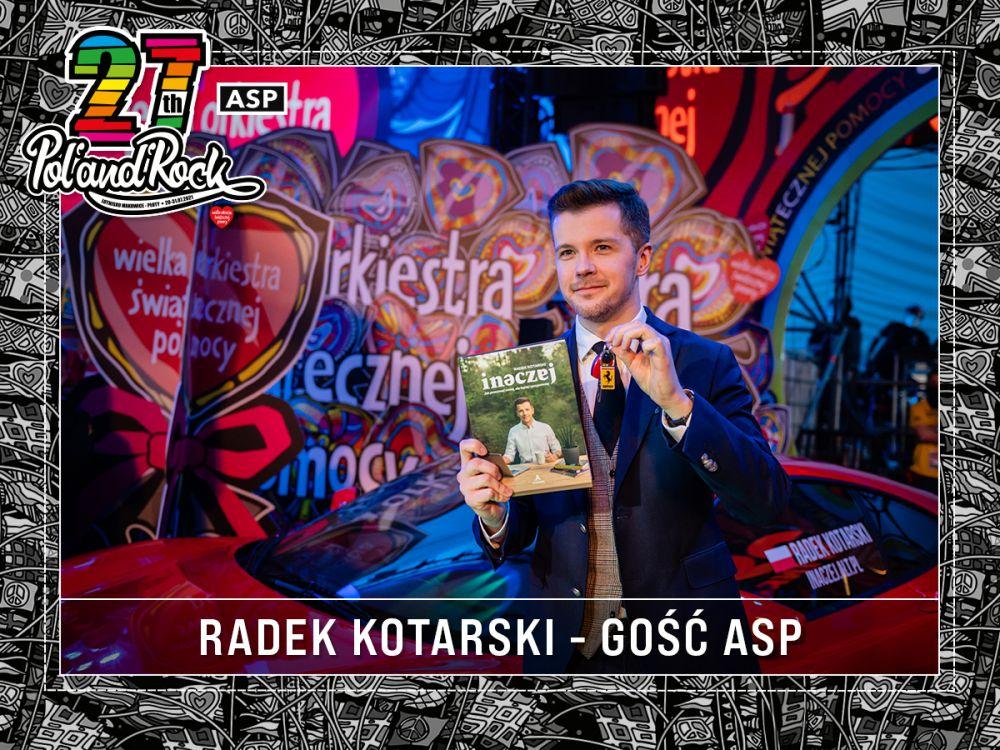 Radek Kotarski na Finale WOŚP. fot. Lucyna Lewandowska