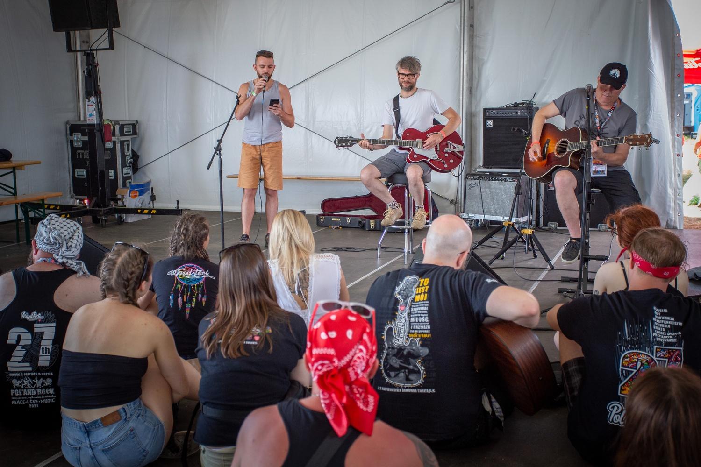 Muzyczne warsztaty z Piotrem Bukartykiem na 27. Pol'and'Rock Festival. Fot. Edyta Kurycka