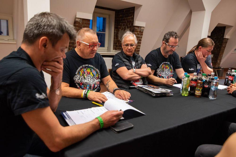 Obrady jury Eliminacji do Pol'and'Rock Festival podczas obrad - fot. Grzegorz Adamek