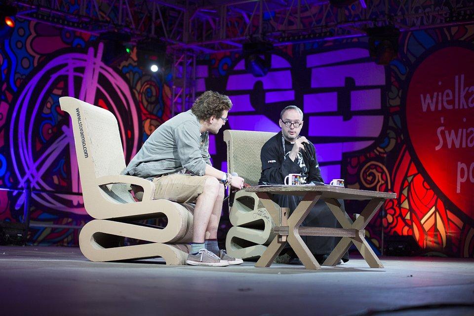 Błażej Strzelczyk i ks. Jan Kaczkowski podczas ASP Najpiękniejszego Festiwalu Świata, fot. Basia Lutzner