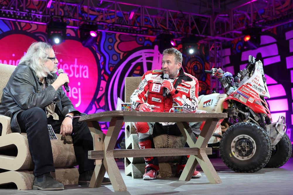 Rafał Sonik podczas Przystanku Woodstock 2015, fot. Michał Sandecki