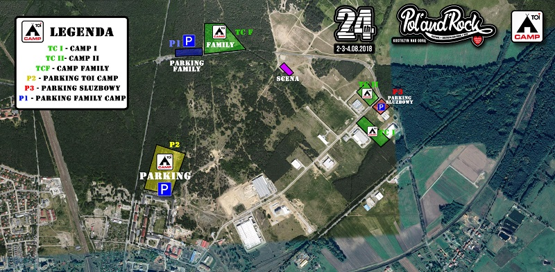 Mapa TOI CAMP podczas 24. Pol'and'Rock Festival