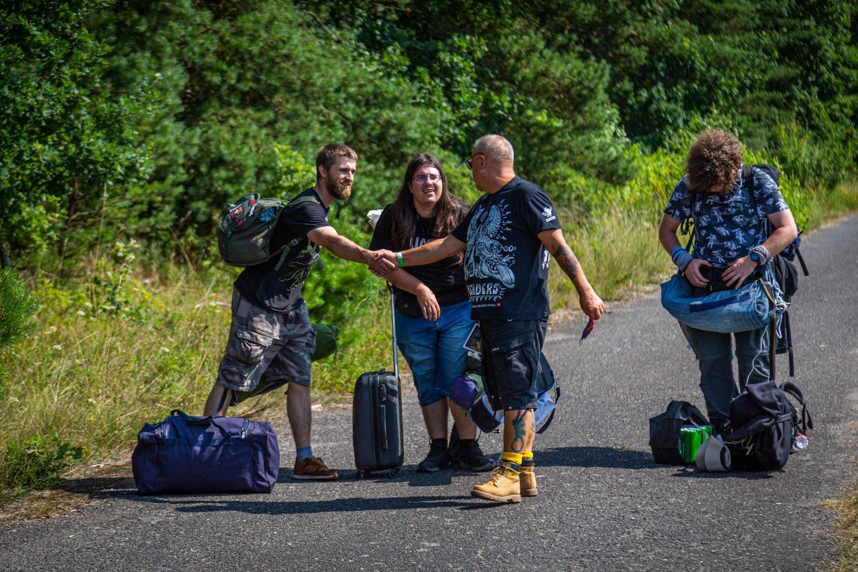 Photographer Michał Kwaśniewski, Jurek Owsiak greets festival-goers