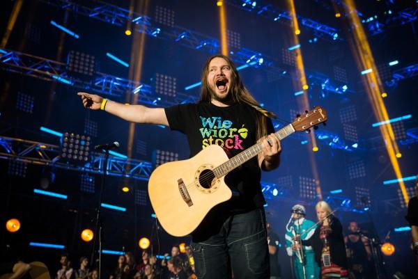 Kabanos podczas koncertu na zakończenie Przystanku Woodstock w 2016 roku fot. Damian Mękal